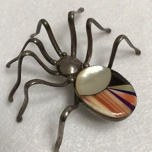 Jewelry - Zuni Inlay Spider Brooch and Pendant